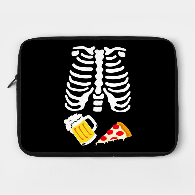 Couples Costume Skeleton BABY and Pizza and Beer Xray Halloween T-shirt Tshirt Tee Shirt Matching Set Pregnant Pregnancy