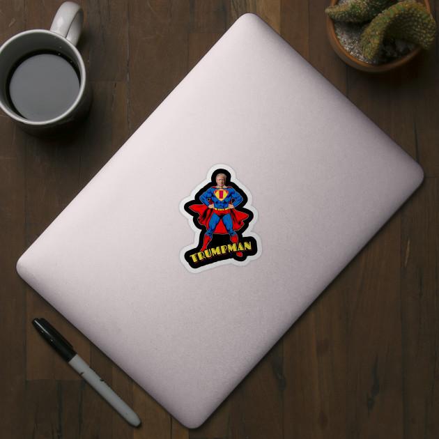 Trump Superman Trumpman Funny Gift 2020 Trump Superman 2020 Sticker Teepublic