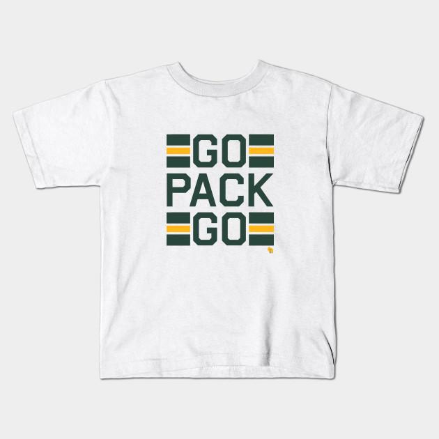 Go Pack Go - Green Bay Packers - Kids T-Shirt  68c693843