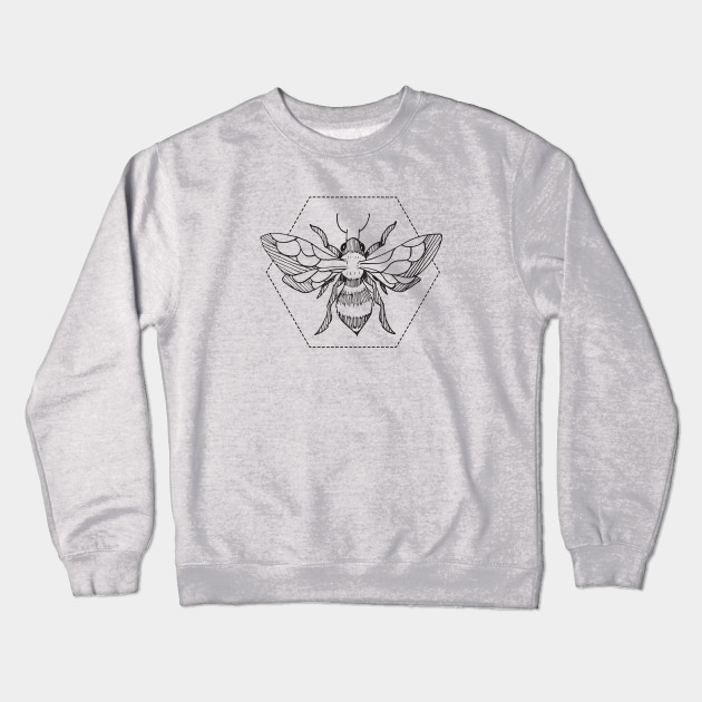 e25f0b48 Pen & Ink Bee Tattoo - Bees - Crewneck Sweatshirt | TeePublic
