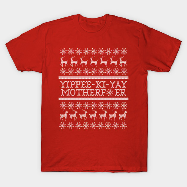 Die Hard Yippee Ki Yay Ugly Christmas Sweater Die Hard Ugly