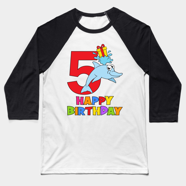 5th Birthday Party 5 Year Old Five Years Baseball T Shirt