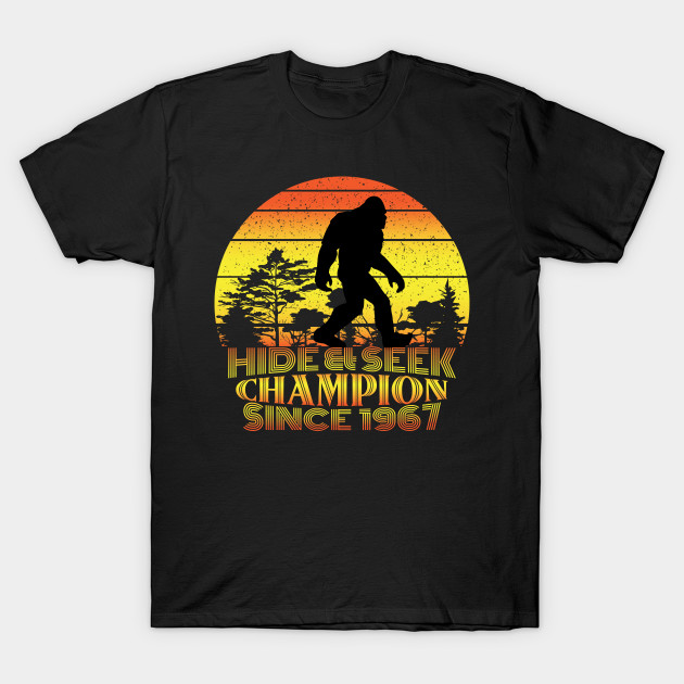 08dcae5ce Hide And Seek World Champion Tshirt, Bigfoot Shirt, Sasquatch, Funny Bigfoot  Shirt, Gift For Him, Gift For Her,Cryptid Tee,cryptozoology tee T-Shirt