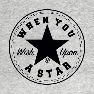 9023a83e2169 Wish Upon A Star (Black) T-Shirt