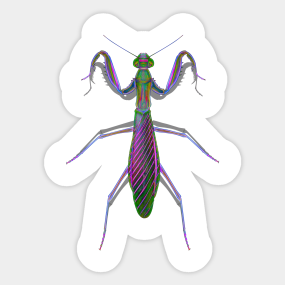 Mantis Stickers Teepublic