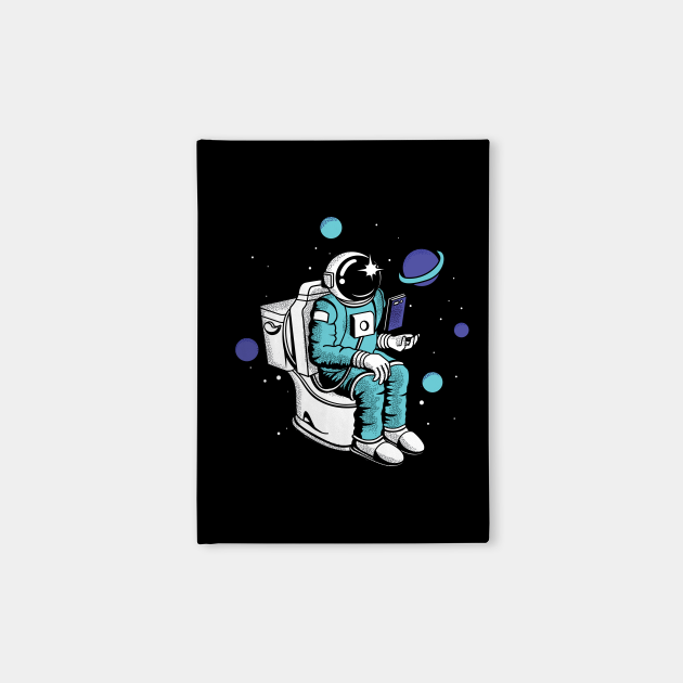 Poopin Space Astronaut Color Funny Space Gift
