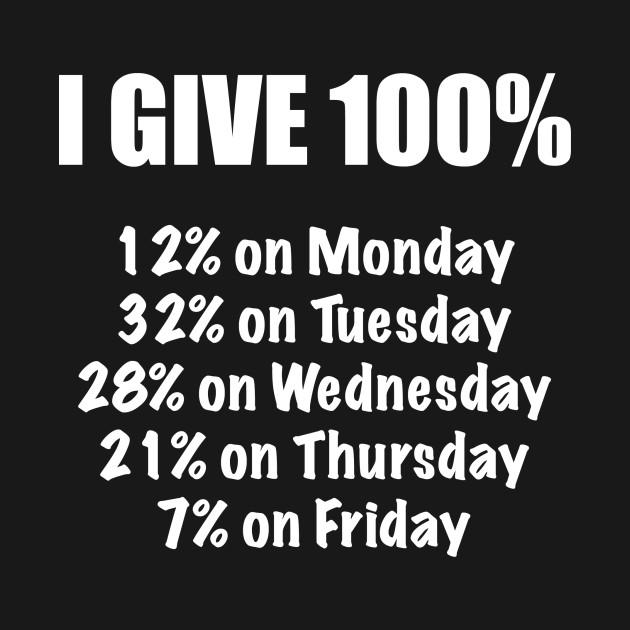I Give 100 Percent