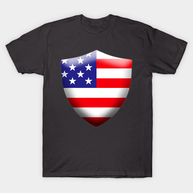 7807888b376 US Flag Shield - American Flag - T-Shirt
