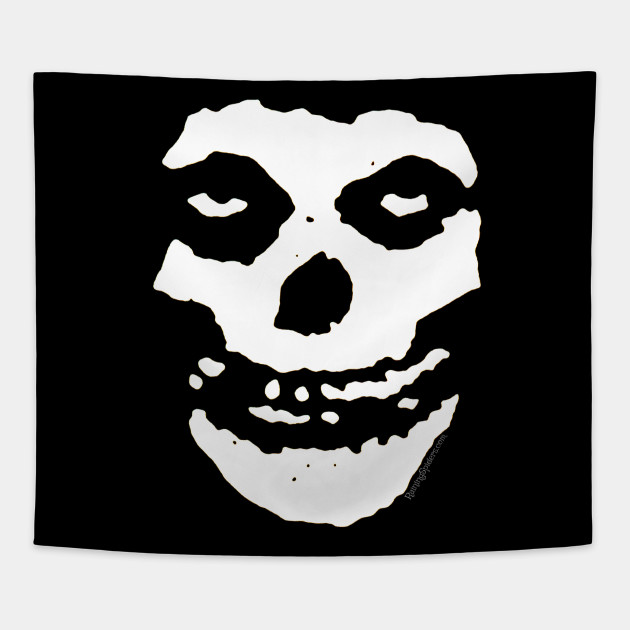 The Crimson Ghost Skull Misfits Tapestry Teepublic