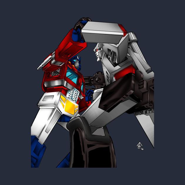 Optimus vs. Megatron