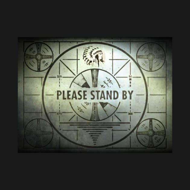 Vintage Please Stand By Trouble Test Slide