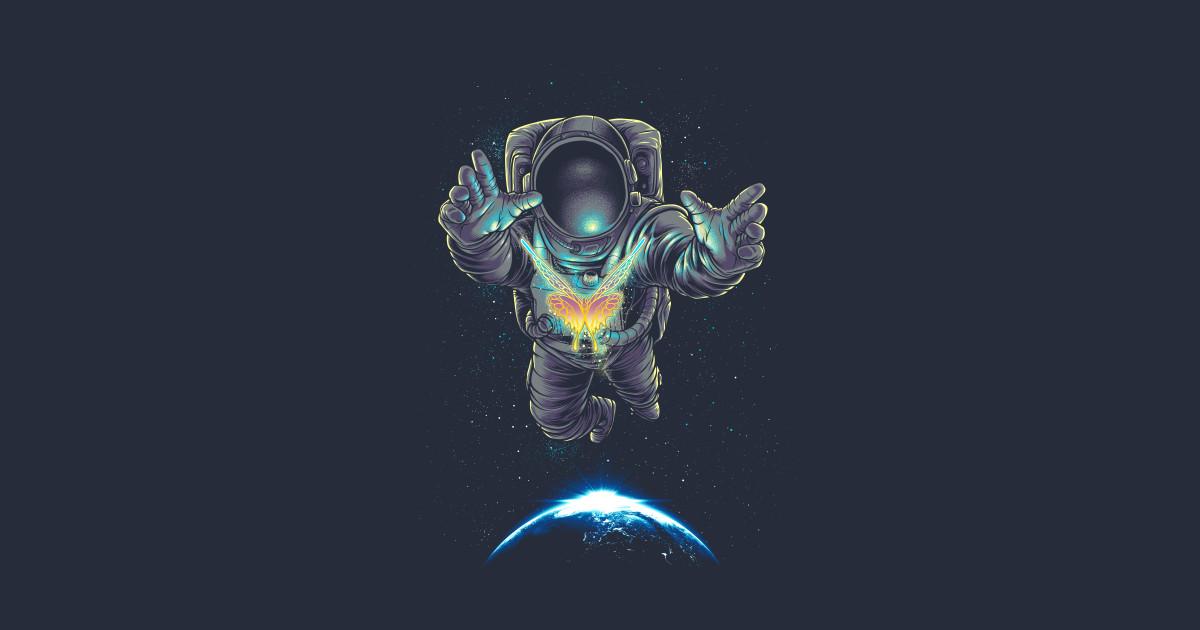Butterflight Astronaut T Shirt Teepublic
