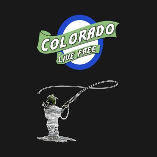 Fly fishing t shirts teepublic for Colorado fishing limits