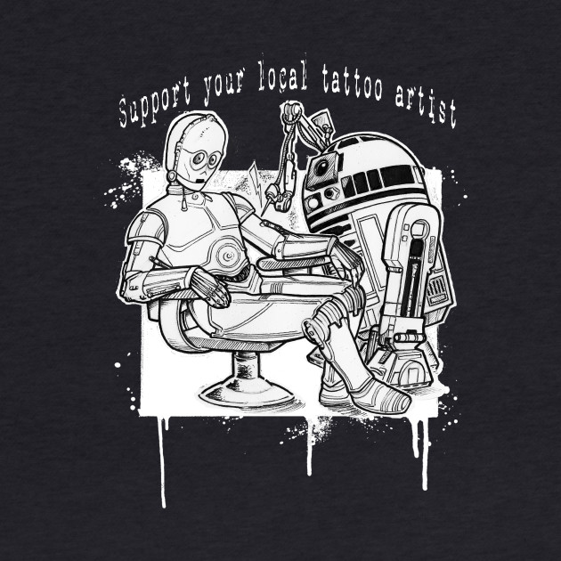 T shirt, support your droid tattoo artist