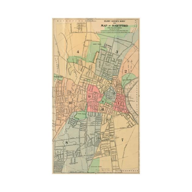 Vintage Map of Hartford Connecticut (1903) by bravuramedia