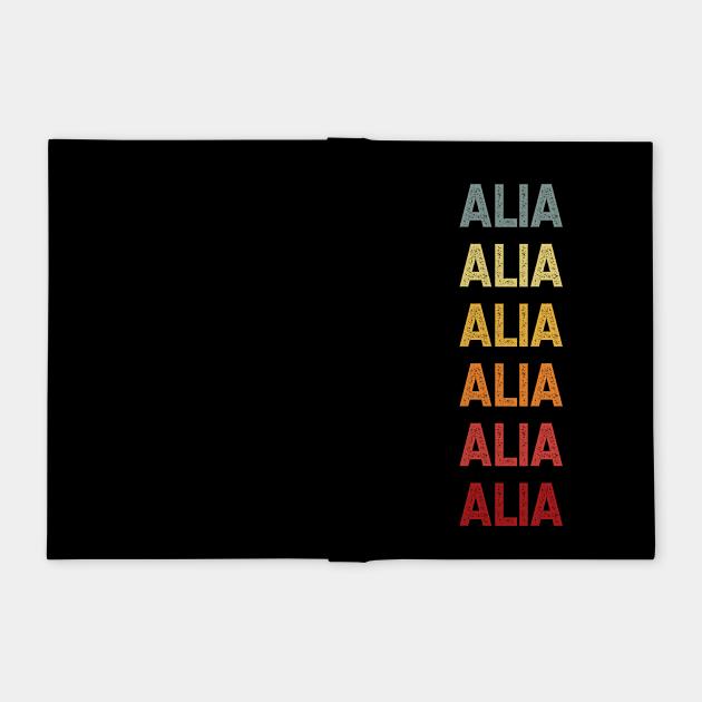 Alia Name Vintage Retro Gift Called Alia