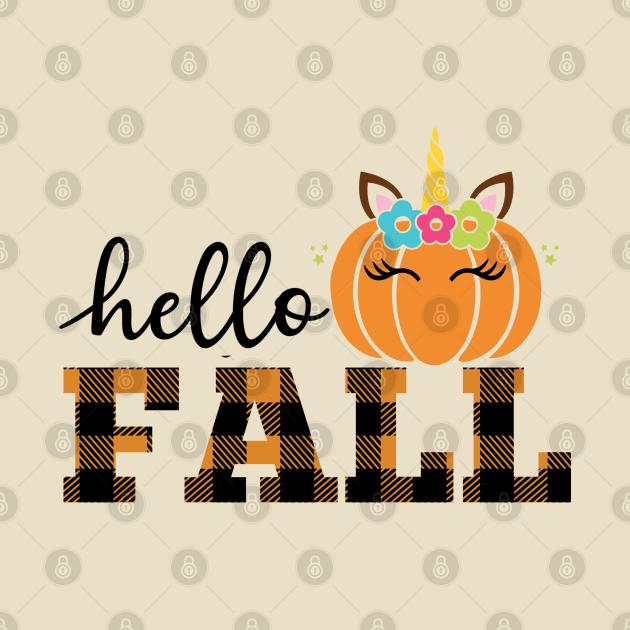 Say Hello Fall with a Unicorn Attitude (light bg)