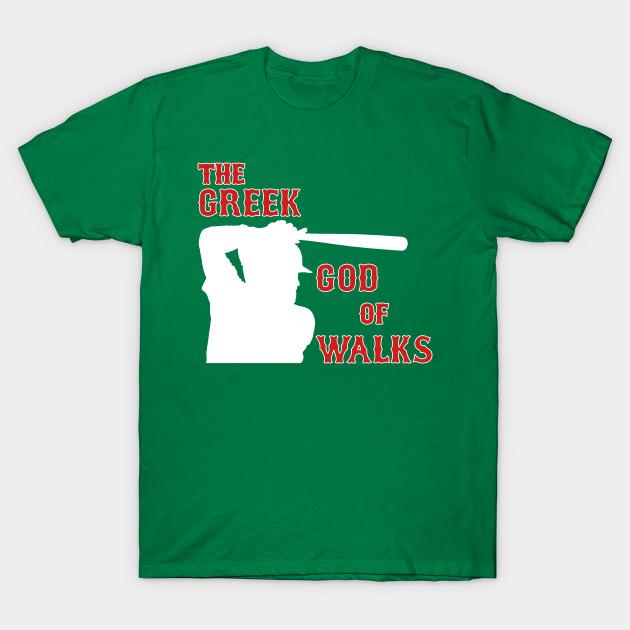 e18208783 Kevin Youkilis - Greek God of Walks - Red Sox - T-Shirt