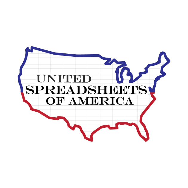 Funny Excel/Spreadsheet: United Spreadsheets of America