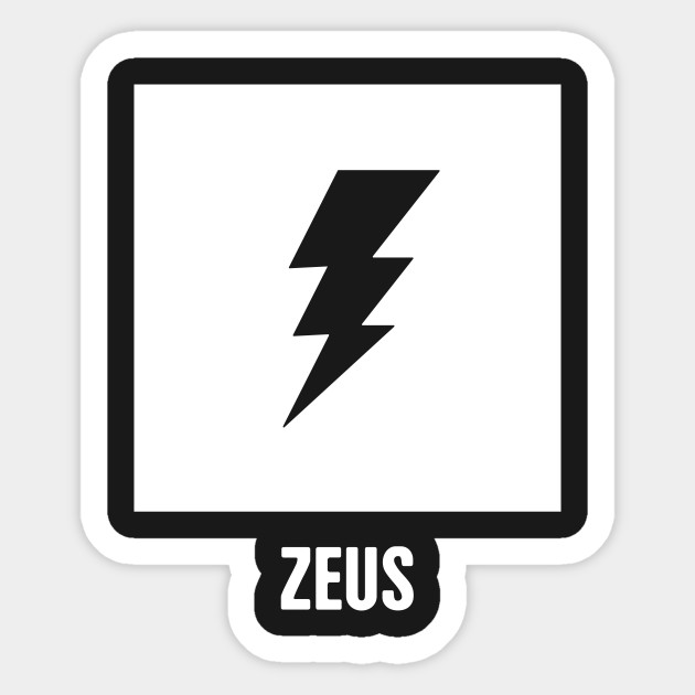 Zeus Greek Mythology God Symbol Greek Mythology Sticker