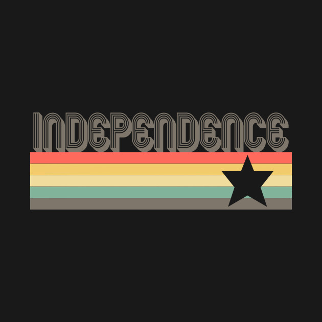 Independence T-Shirt City Vintage Retro 70s 80s Missouri Tee Gift