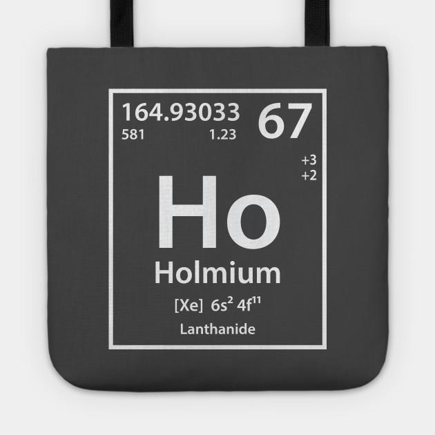 Holmium Element Holmium Tote Teepublic