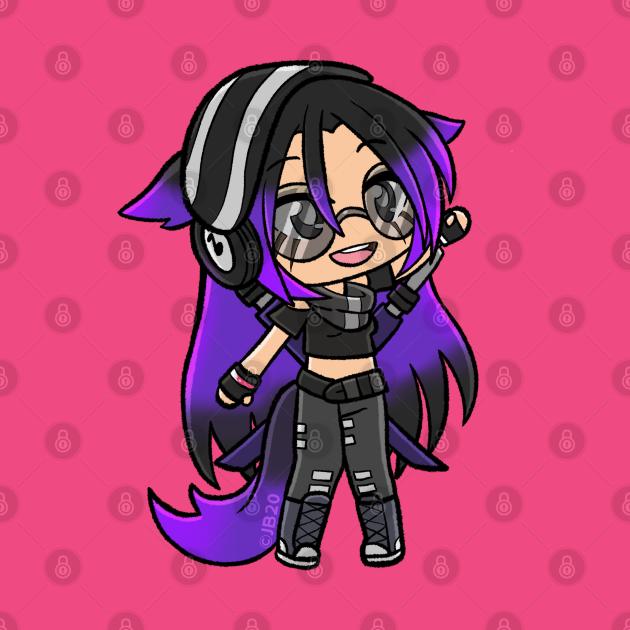 Purple Alpha Gacha Girl