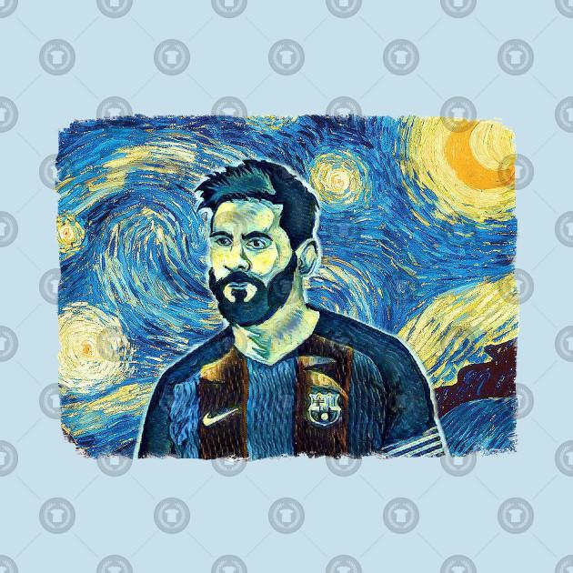 Messi Van Gogh Style