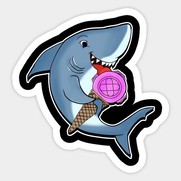 Cute Shark Smile Happy Sea Animal Lover Vinyl Sticker