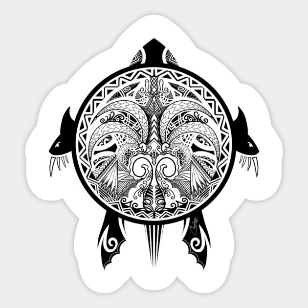 8f4d1b680 Tattoo Tribal Turtle - Tattoo Tribal Turtle Shield - Sticker | TeePublic
