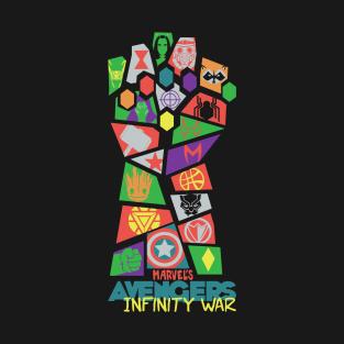 Avengers Infinity War Pop Art t-shirts