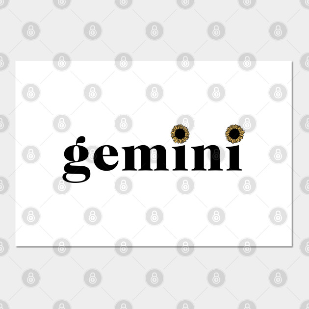 Gemini Sunflower Zodiac
