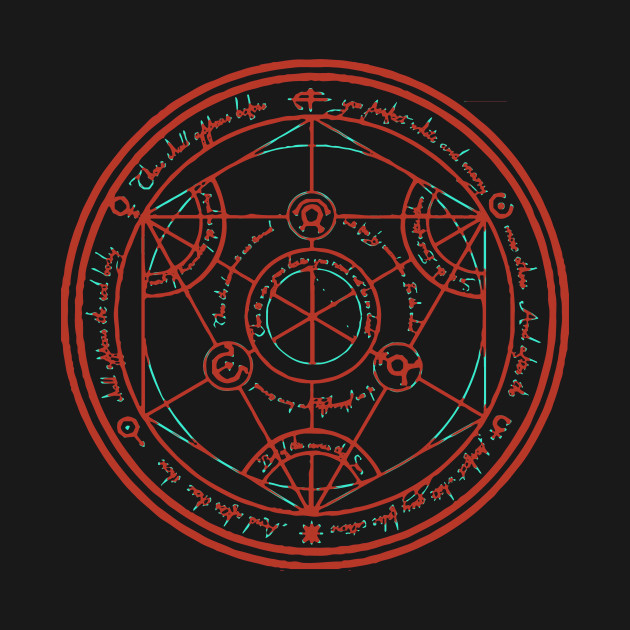 Transmutation Circle - Fullmetal Alchemist - Camiseta | TeePublic MX