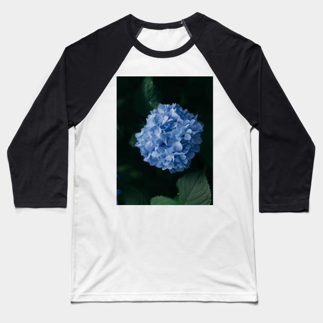 7b1fa396c739 Blue Hydrangea - Hydrangeas - Baseball T-Shirt