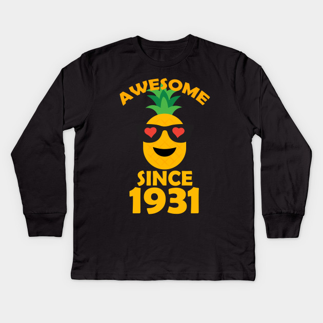 Pineapple Since 1931 Perfect My 87th Years Old Birthday Shirt