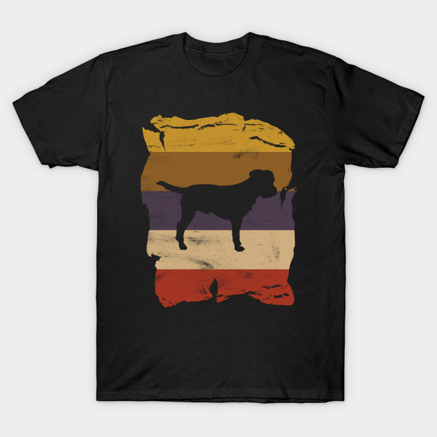 Border Terrier Distressed Vintage Retro Silhouette T-Shirt