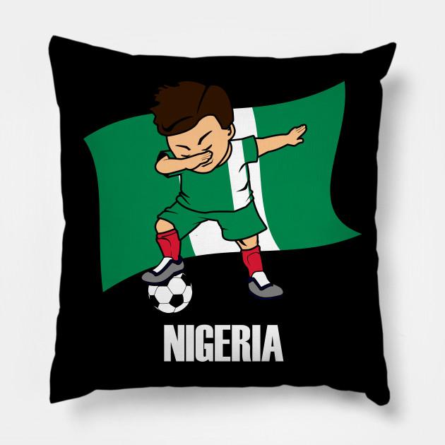 eeda2694f Dabbing Soccer Boy Nigeria Soccer Jersey Nigerian Flag - Dabbing ...