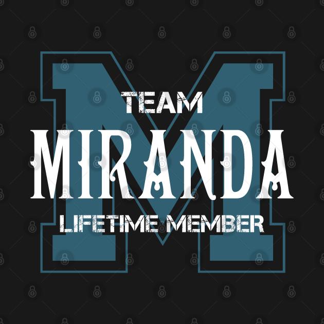 Team MIRANDA Lifetime Member