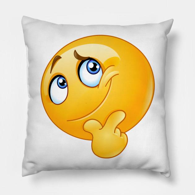 Emoji Cuscini.Ponder Emoji Emoji Cuscino Teepublic It