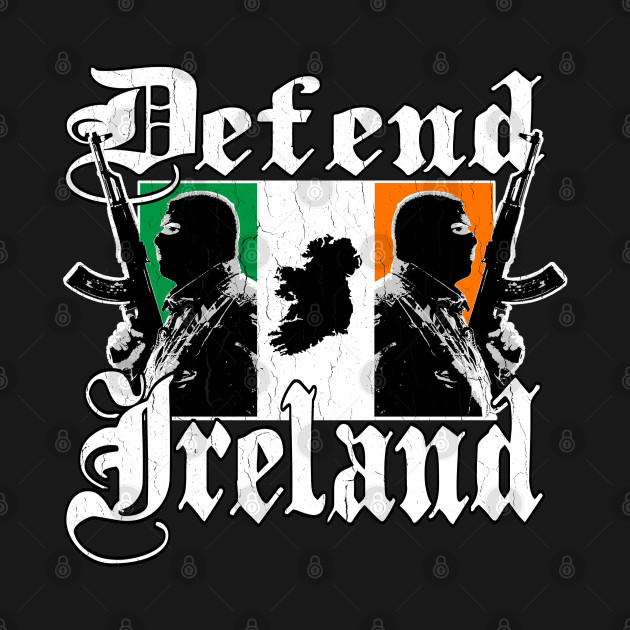 Defend Ireland (vintage distressed look)