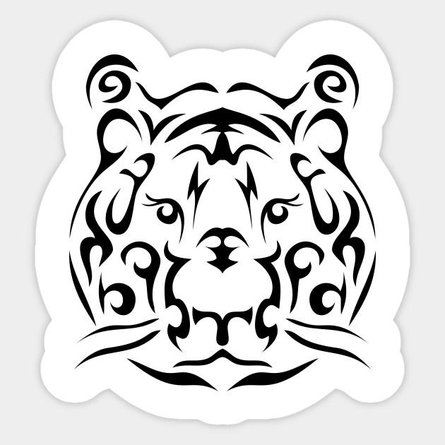Tribal tiger face