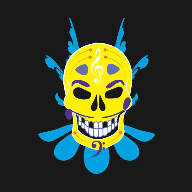Floral Sugar Skull Day of the Dead Sweatshirt Dia de los Muertos