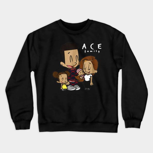 ace cartoon family hoodies for kids