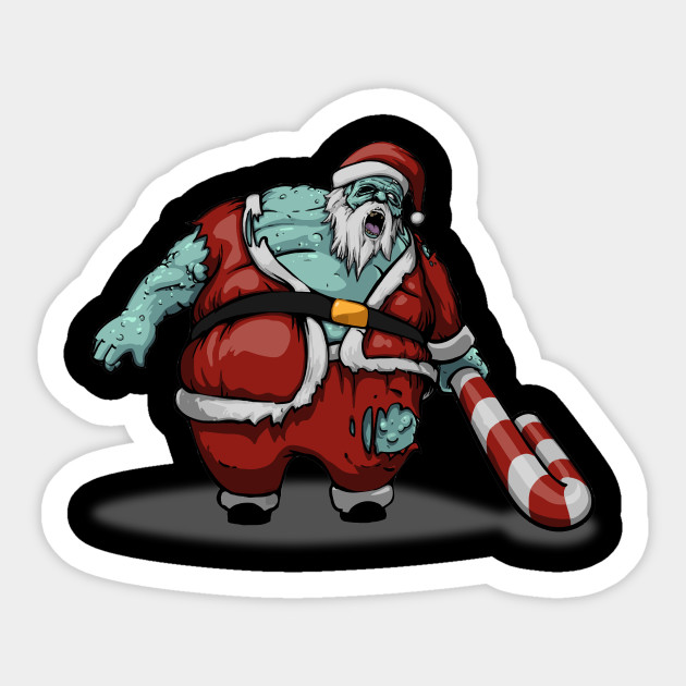 Christmas Zombie Santa.Funny Scary Christmas Santa Zombie Fat Santa Zombie