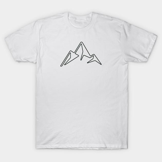 Iconic Rocky Mountain Symbol Mountains T Shirt Teepublic