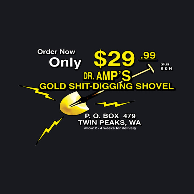 DR. AMP'S GOLD SHIT-DIGGING SHOVEL