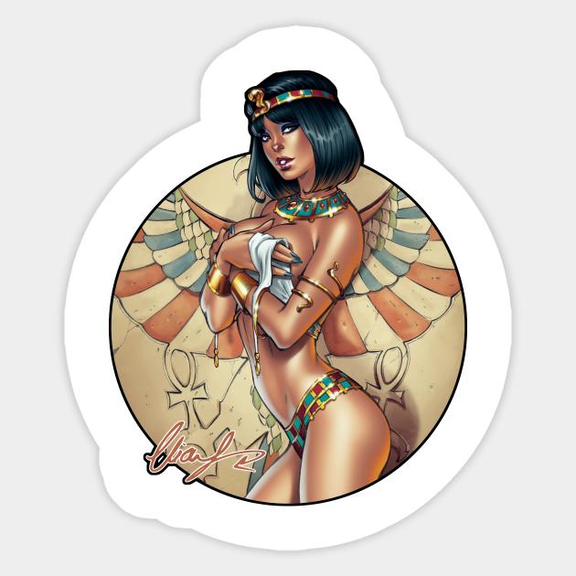 Cleopatra - Hot - Sticker   TeePublic UK
