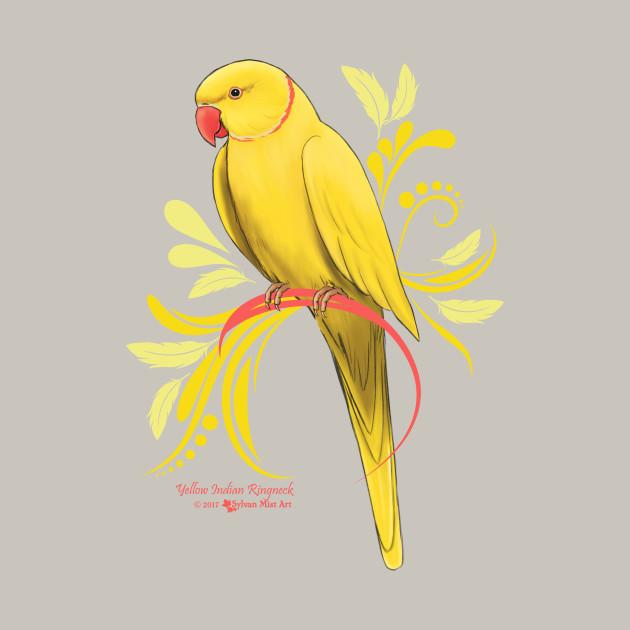 Yellow Indian Ringneck Parrot - Indian Ringneck Parrots - T-Shirt ...