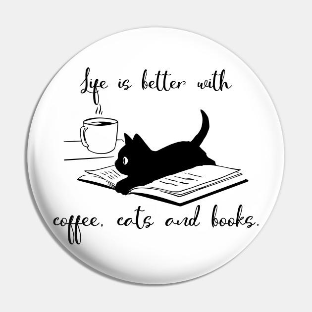 Resultado de imagen para coffee books and cats