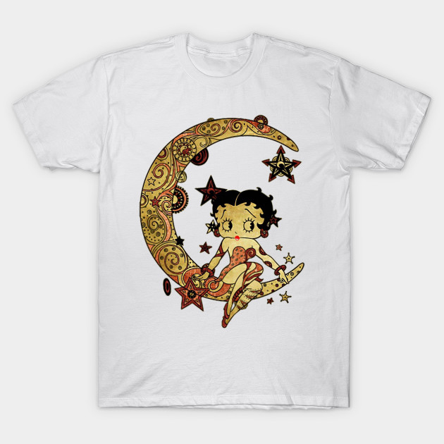 Betty Boop sitting on the moon shirt